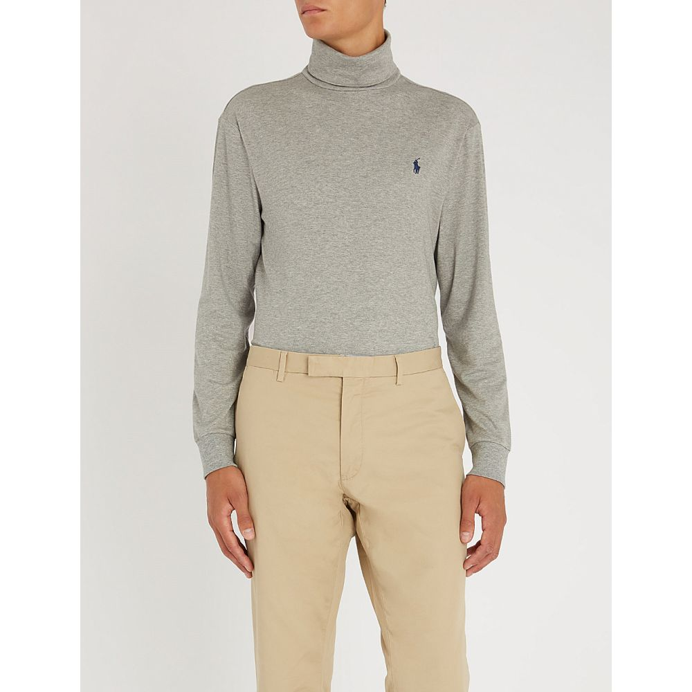 ラルフ ローレン polo ralph lauren メンズ トップス 長袖Tシャツ【turtleneck cotton-jersey top】Andover heather