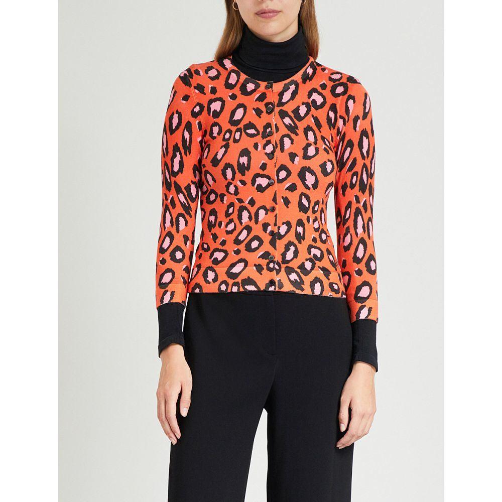 カレンミレン karen millen レディース トップス カーディガン【leopard-print jersey cardigan】Multi-coloured
