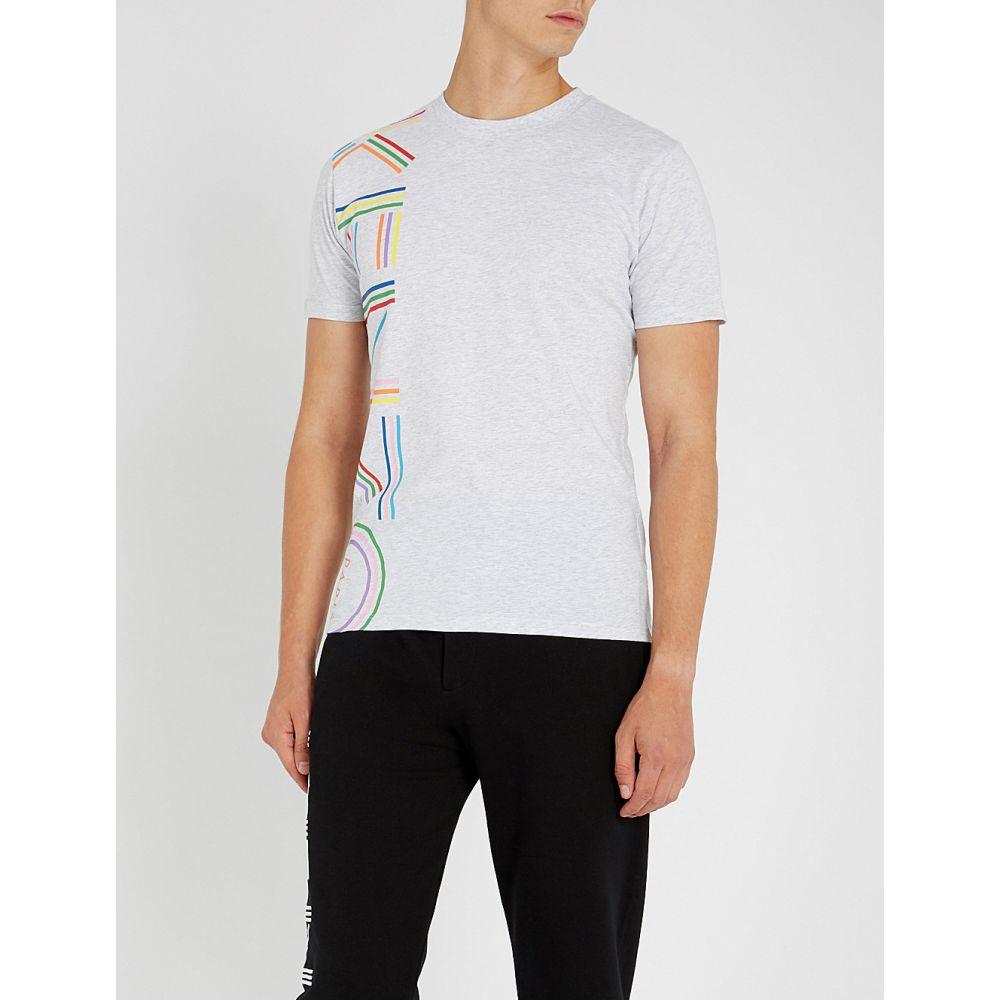 ケンゾー kenzo メンズ トップス Tシャツ【logo-print cotton-jersey t-shirt】Pale grey
