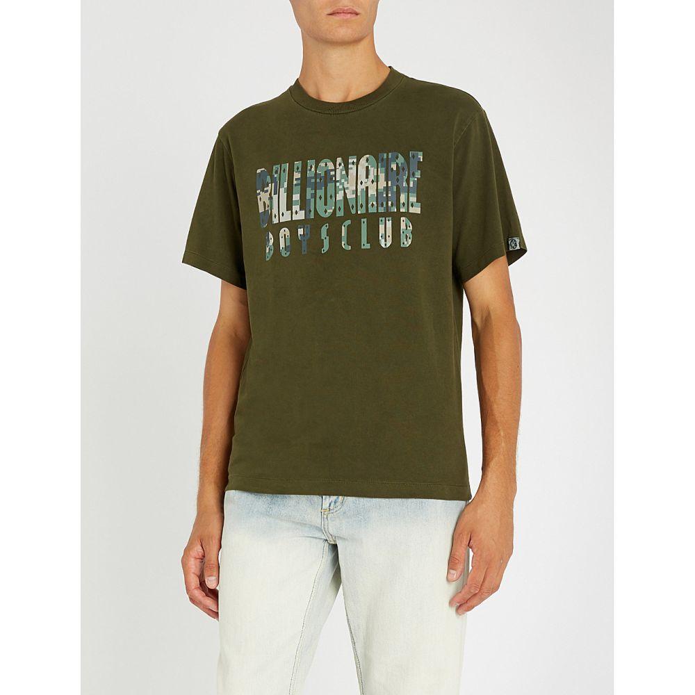 ビリオネアボーイズクラブ billionaire boys club メンズ トップス Tシャツ【digital camo-print overdye cotton-jersey t-shirt】Olive