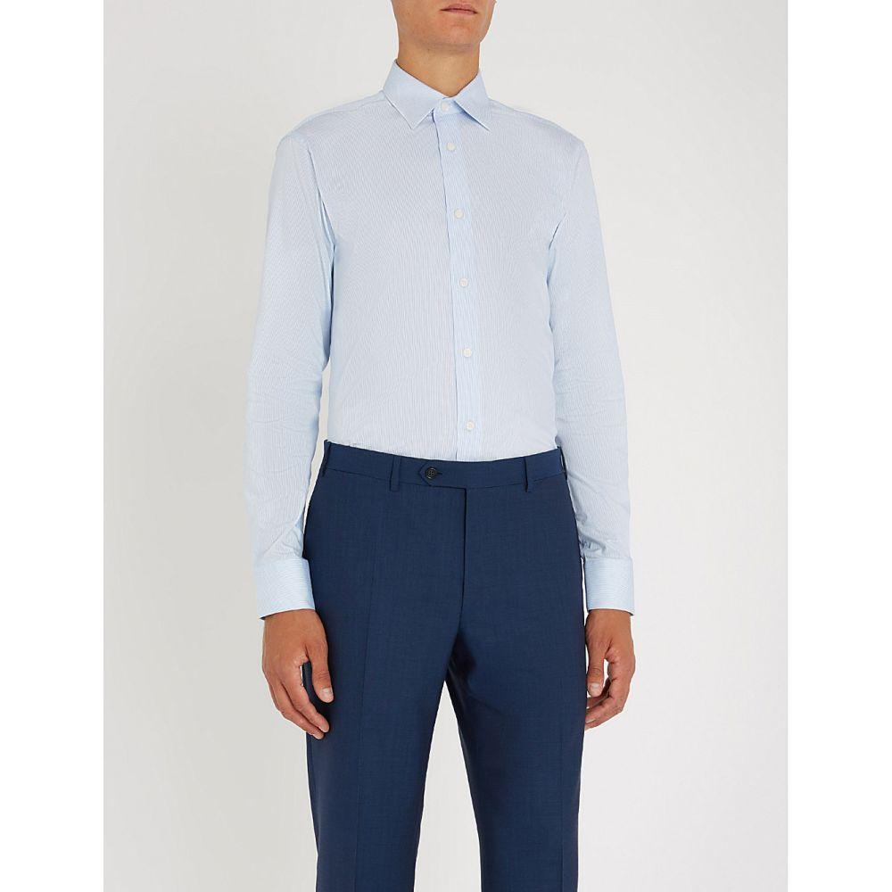 タイガー オブ スウェーデン tiger of sweden メンズ トップス シャツ【farrell slim-fit cotton shirt】Light blue