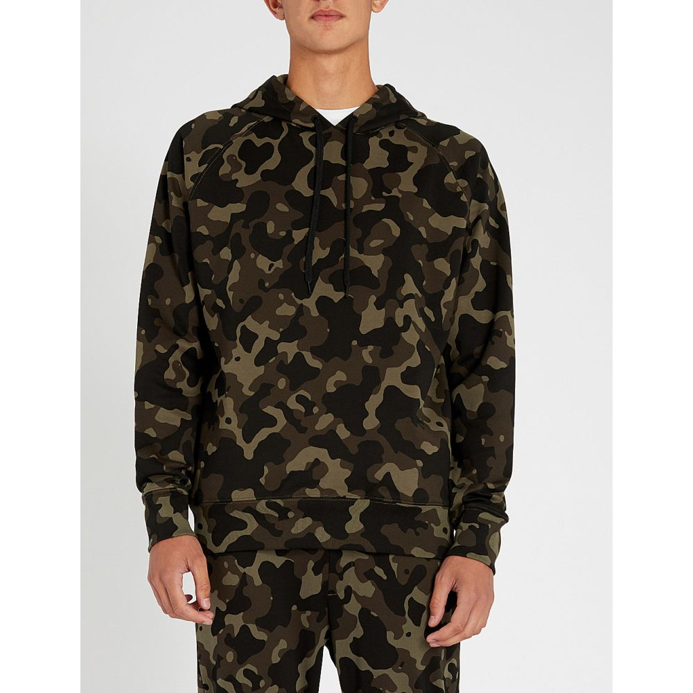 ヒューゴ ボス hugo メンズ トップス パーカー【camouflage-print cotton-jersey sweatshirt】Open miscellaneous