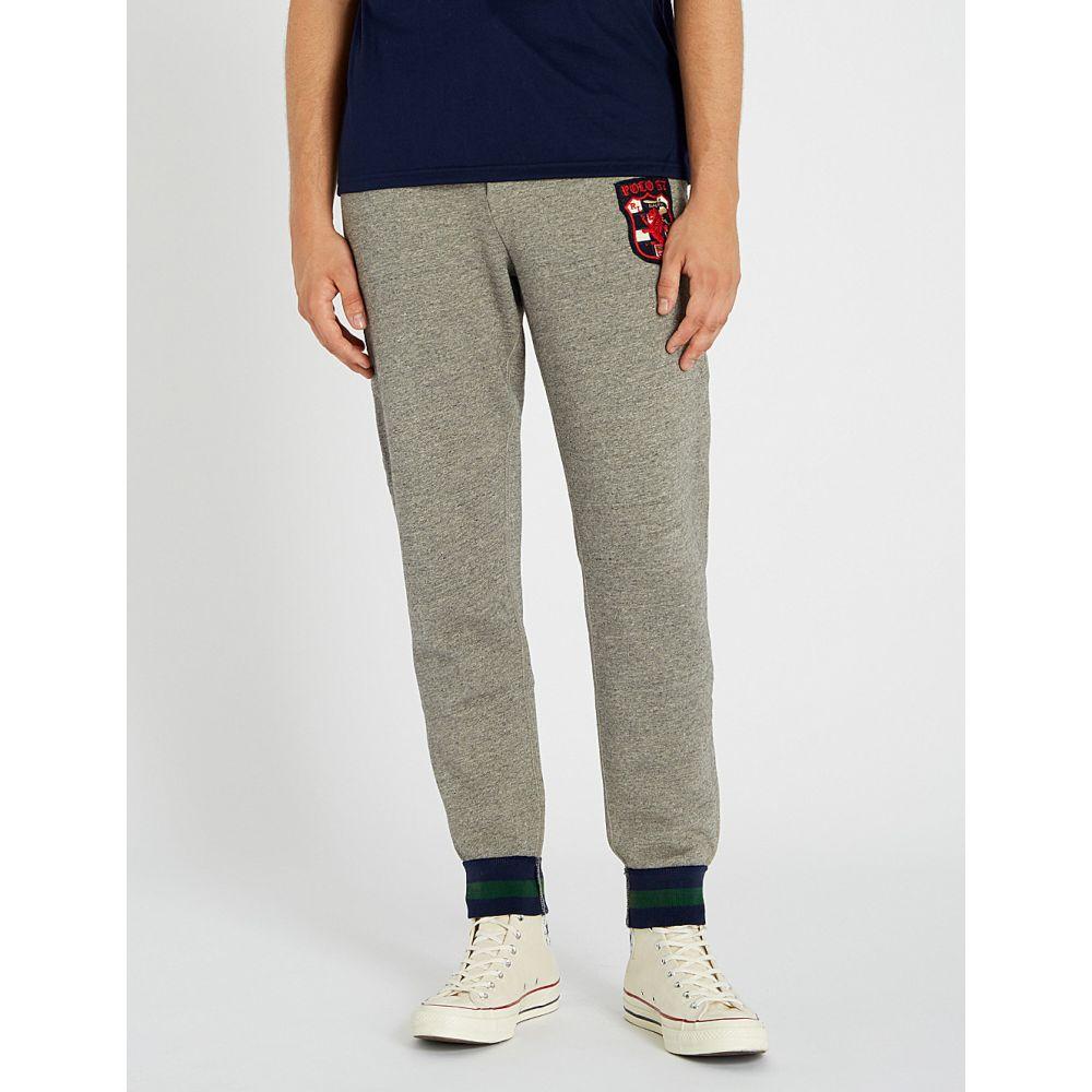 ラルフ ローレン polo ralph lauren メンズ ボトムス・パンツ【logo-embroidered cotton-blend jogging bottoms】Battalion heather