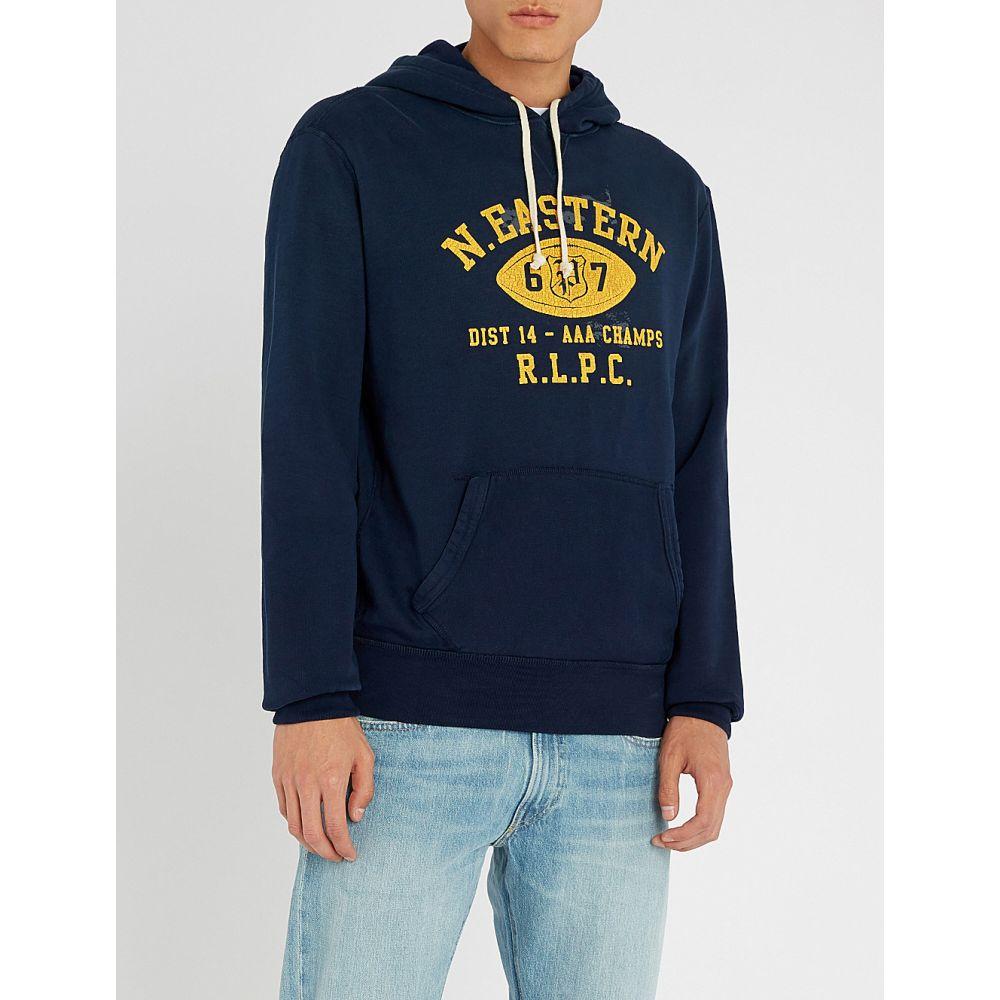 ラルフ ローレン polo ralph lauren メンズ トップス パーカー【logo-print cotton-blend hoody】Cruise navy