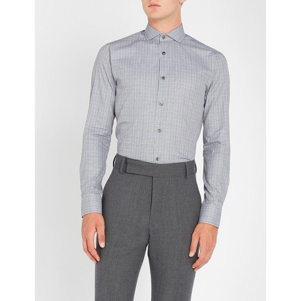 タイガー オブ スウェーデン tiger of sweden メンズ トップス シャツ【farrell slim-fit cotton-poplin shirt】Black