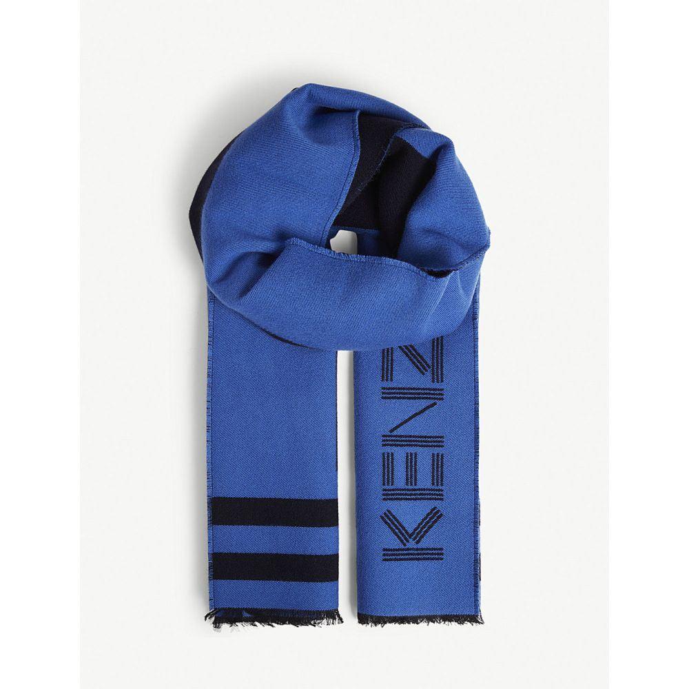 ケンゾー kenzo メンズ マフラー・スカーフ・ストール【sport logo print scarf】Blue