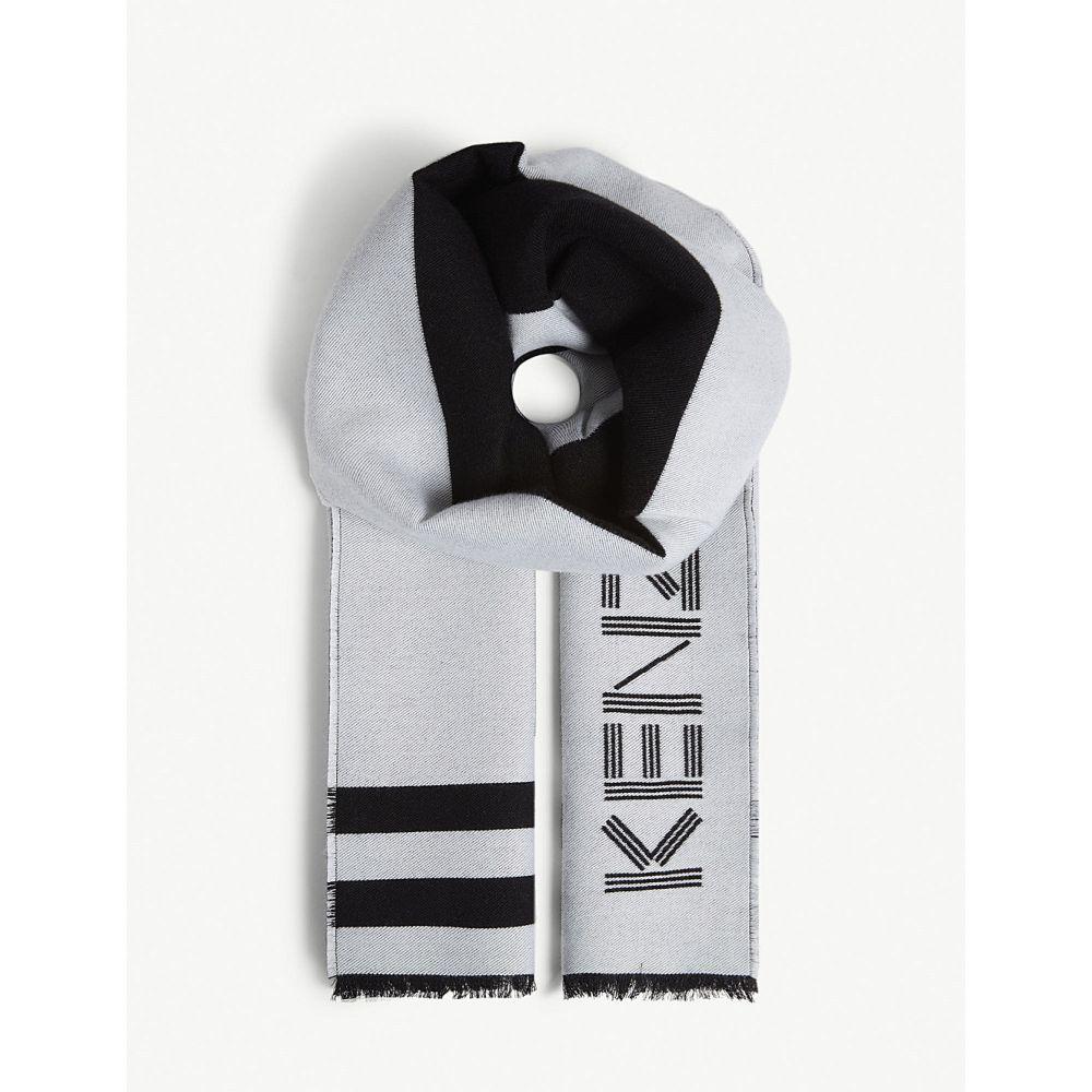ケンゾー kenzo メンズ マフラー・スカーフ・ストール【sport logo print scarf】Black