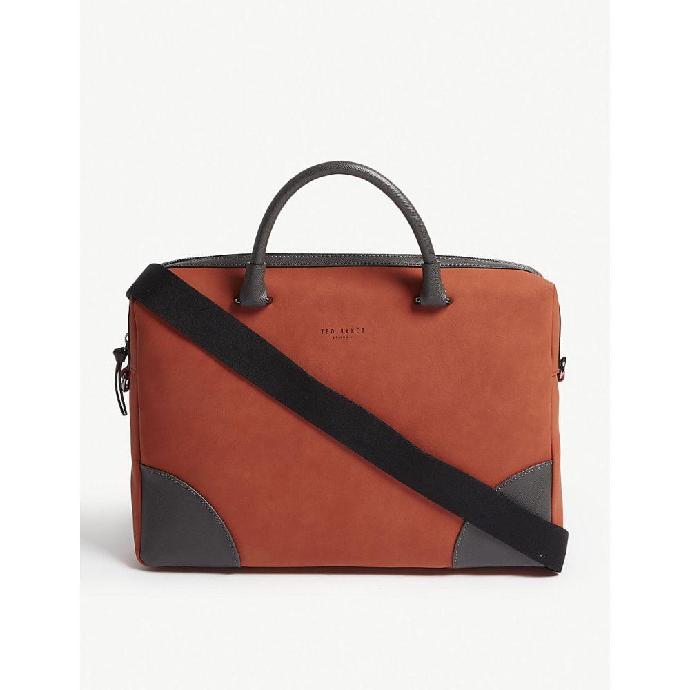 テッドベーカー ted baker メンズ バッグ ビジネスバッグ・ブリーフケース【dayof nubuck briefcase】Orange