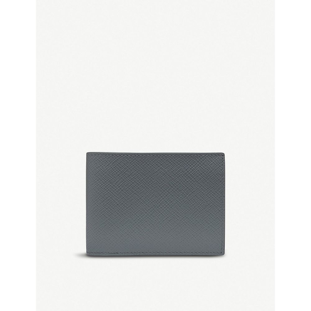 スマイソン smythson メンズ 財布【panama leather slim currency wallet】Smoke