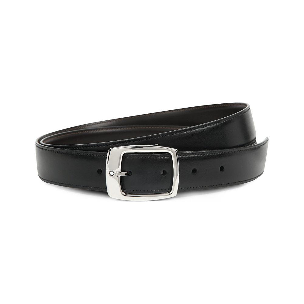 モンブラン montblanc メンズ ベルト【reversible logo-detailed leather belt】Black brown