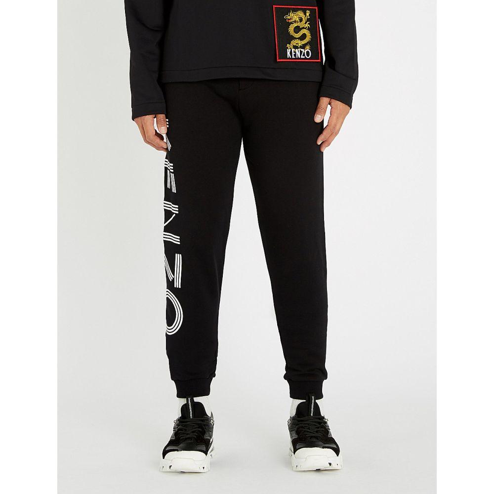 ケンゾー kenzo メンズ ボトムス・パンツ【logo-detail cotton jogging bottoms】Black
