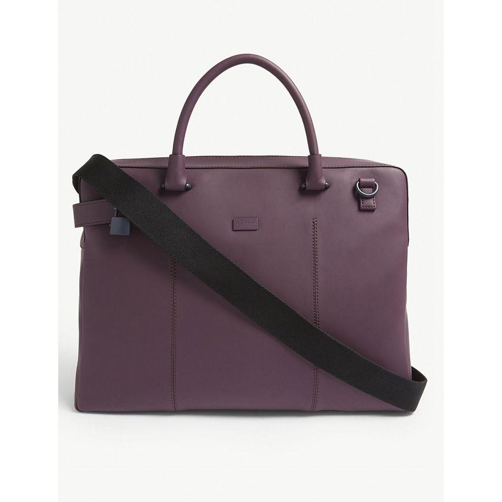 テッドベーカー ted baker メンズ バッグ ビジネスバッグ・ブリーフケース【sunam rubber briefcase】Purple
