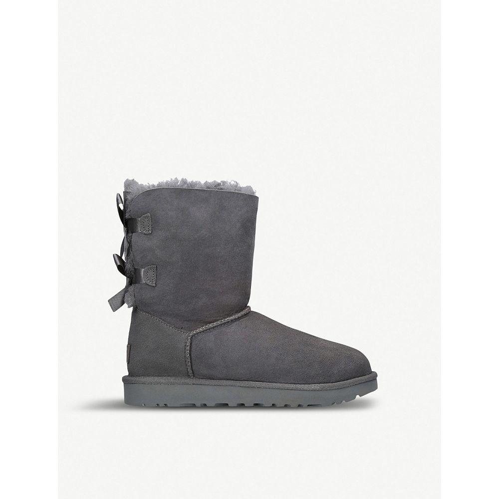 アグ ugg レディース シューズ・靴 ブーツ【bailey bow sheepskin boots】Grey