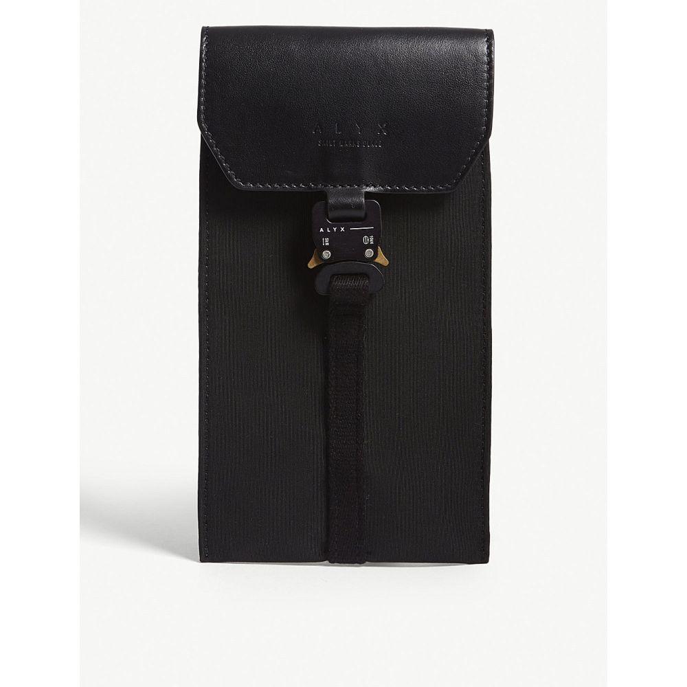 アリクス alyx メンズ スマホケース【leather buckle phone bag】Black