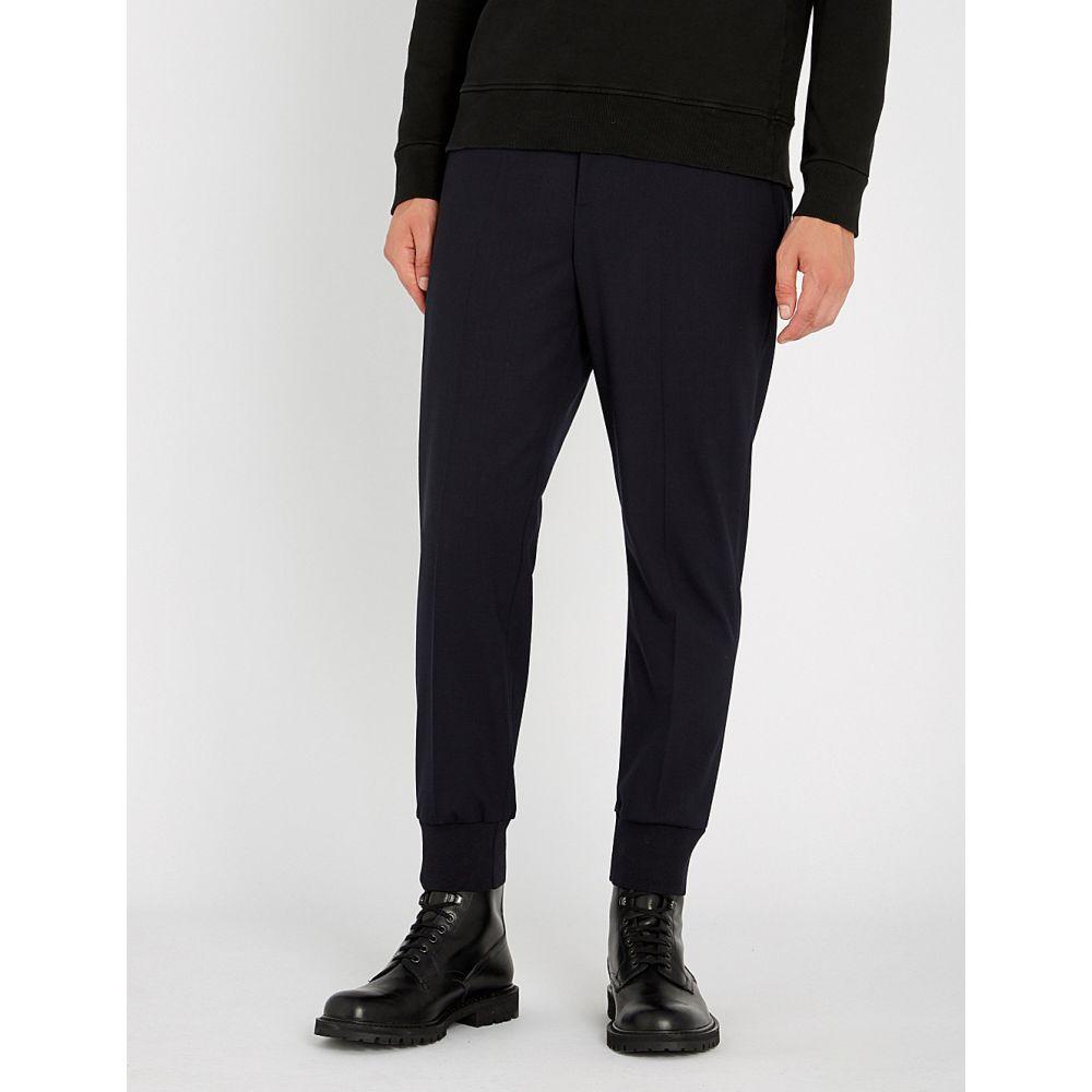 barrett neil stretch-wool スキニー・スリム【cuffed nvy ボトムス・パンツ trousers】Dk ニール バレット メンズ slim-fit