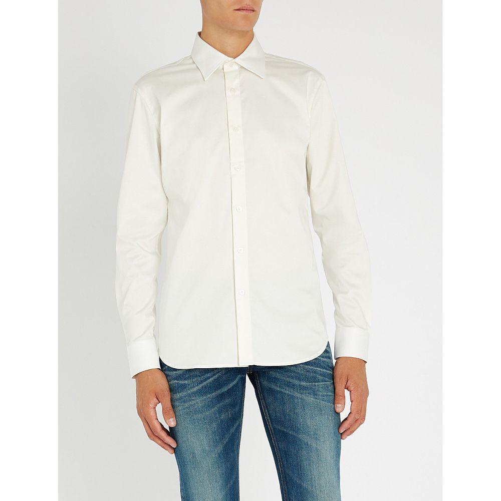 トリプルエス ワールド コープ sss world corp メンズ トップス シャツ【savior eagle regular-fit cotton-poplin shirt】White