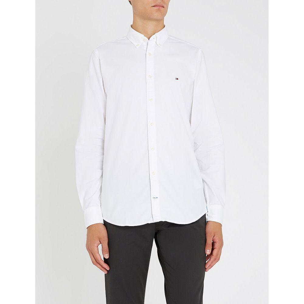 トミー ヒルフィガー tommy hilfiger メンズ トップス シャツ【regular-fit stretch-cotton oxford shirt】Bright white