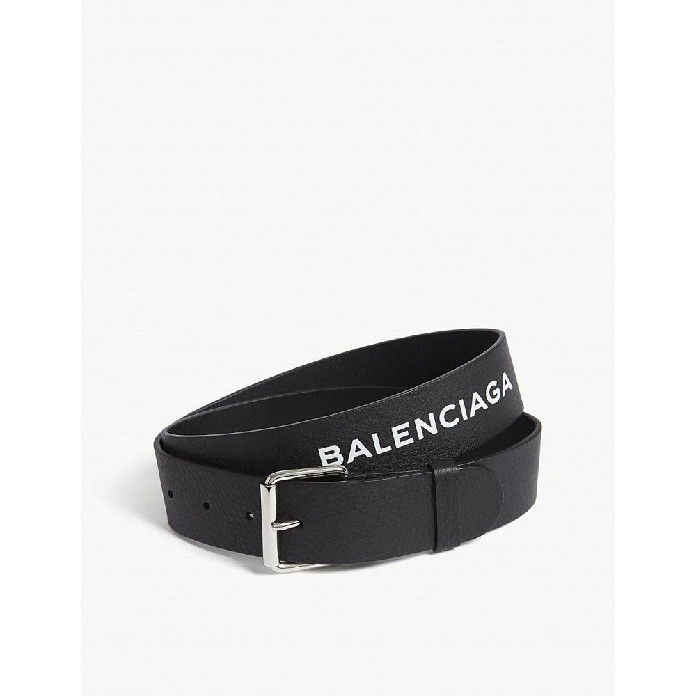 バレンシアガ balenciaga メンズ ベルト【baltimore logo leather belt】White black