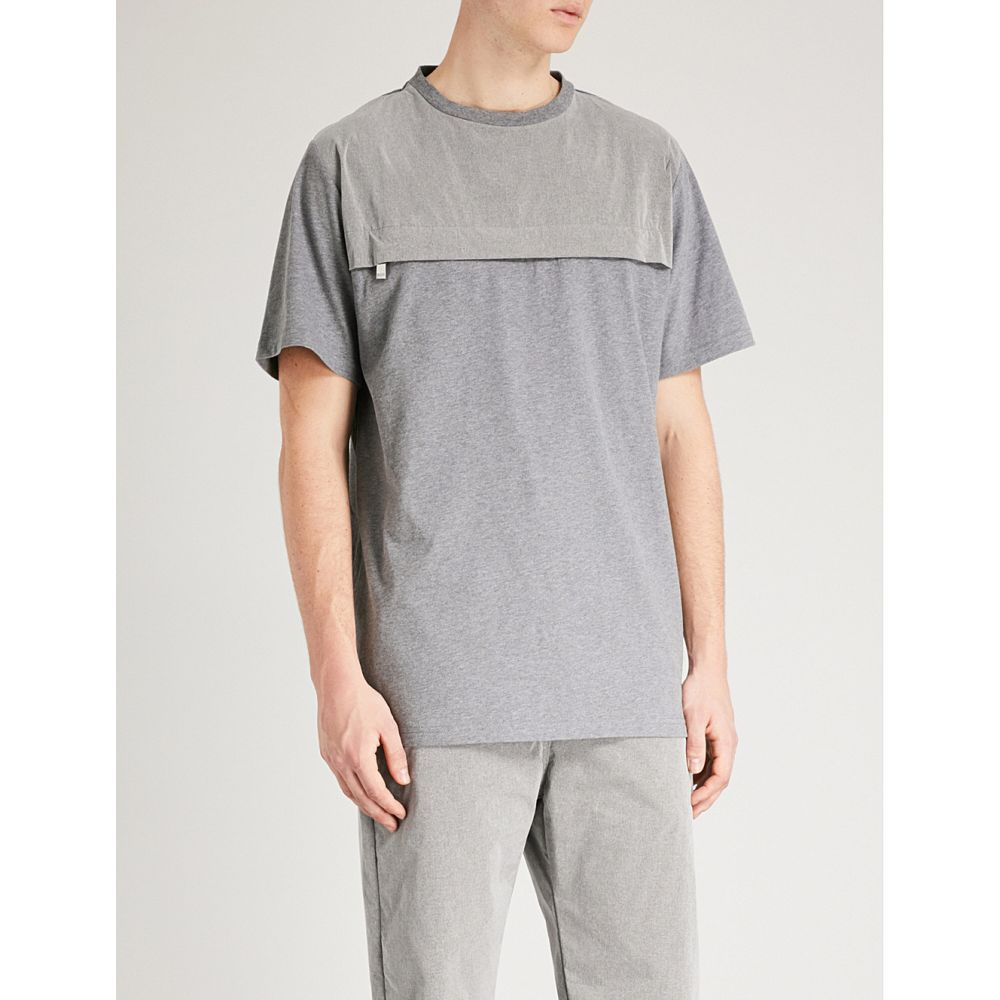 ブラッドブラザー blood brother メンズ トップス Tシャツ【mystic pocketed cotton-jersey t-shirt】Grey