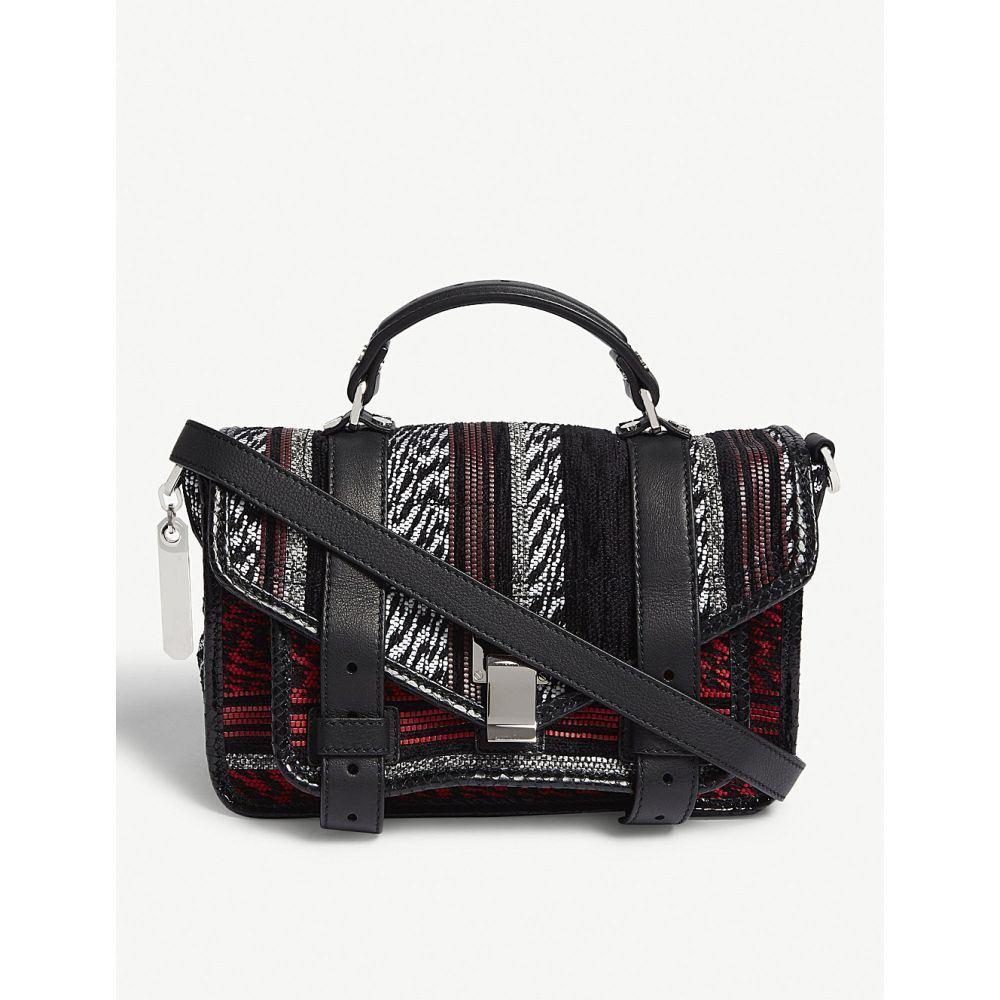 プロエンザ スクーラー proenza schouler レディース バッグ ハンドバッグ【ps1 tiny leather and canvas shoulder bag】Red