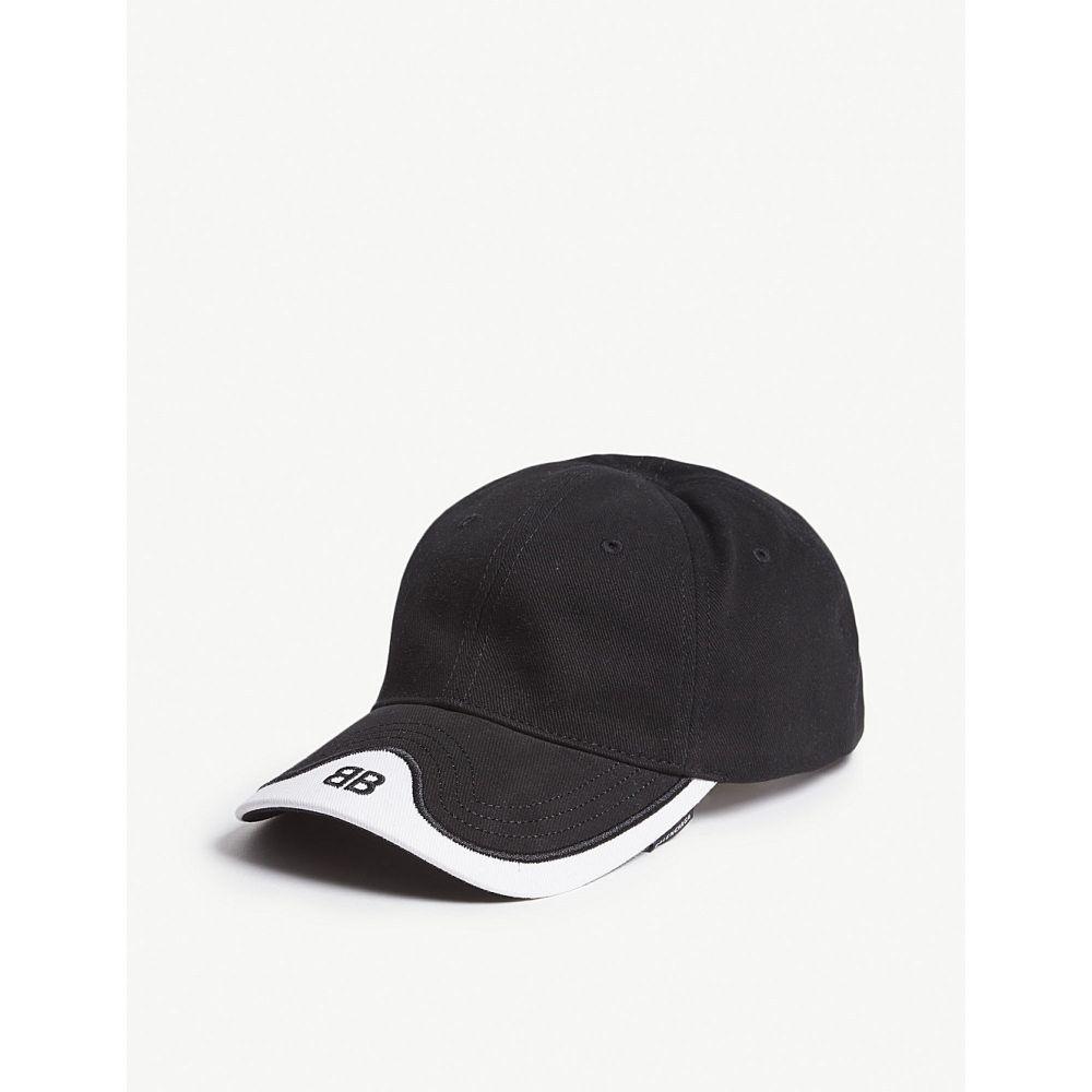 バレンシアガ balenciaga メンズ 帽子 キャップ【mode cotton strapback cap】Black white