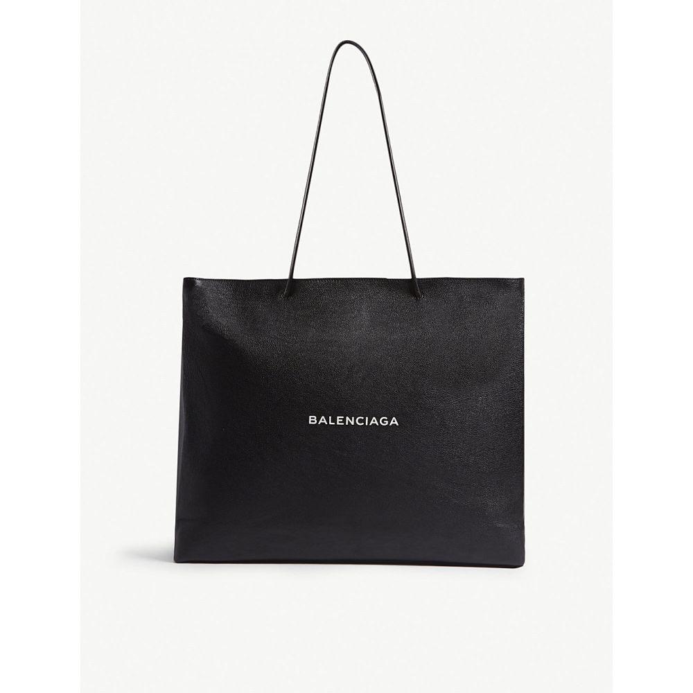 バレンシアガ balenciaga メンズ バッグ トートバッグ【logo large grained leather tote】Black white