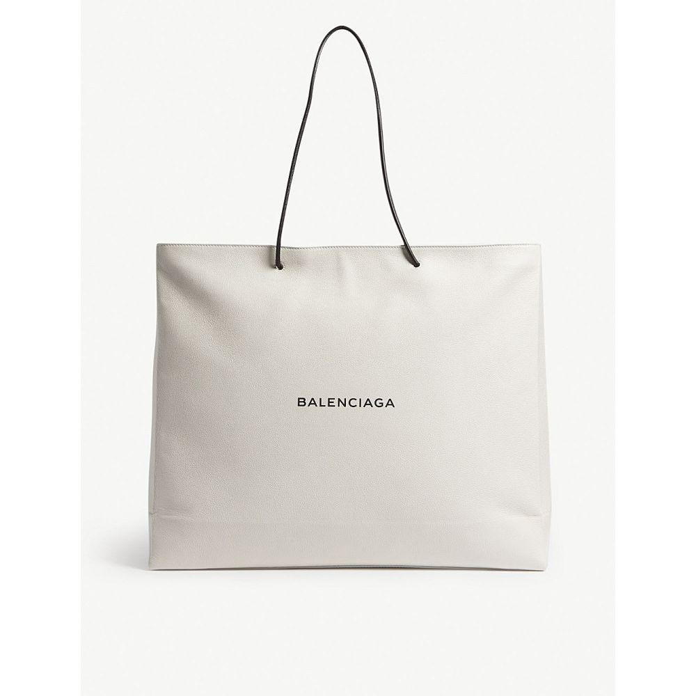 バレンシアガ balenciaga メンズ バッグ トートバッグ【logo large grained leather tote】White black