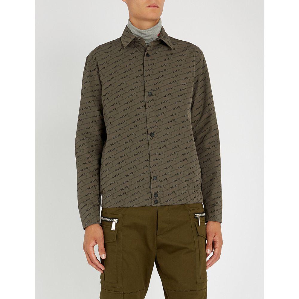 バリー bally メンズ トップス シャツ【logo-print woven overshirt】Grey