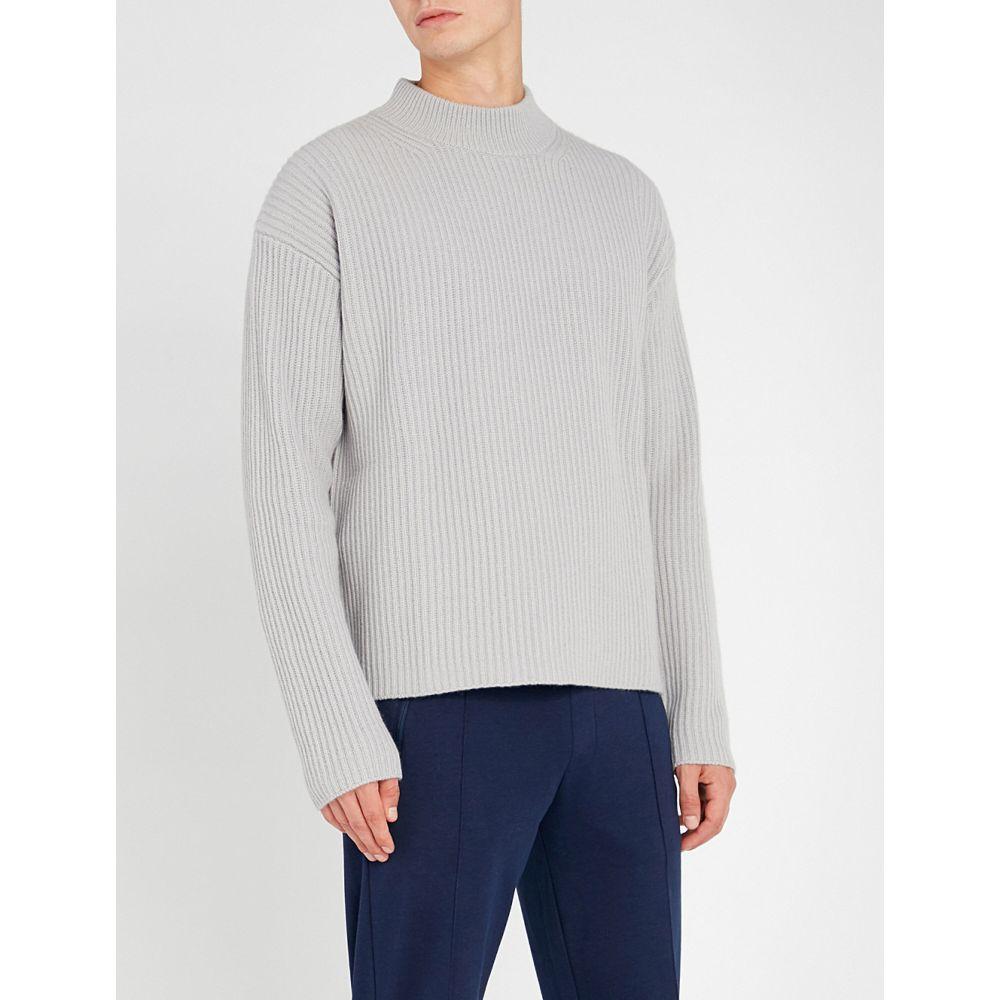 ファルケ falke メンズ トップス ニット・セーター【round-neck wool and cashmere-blend jumper】Grey