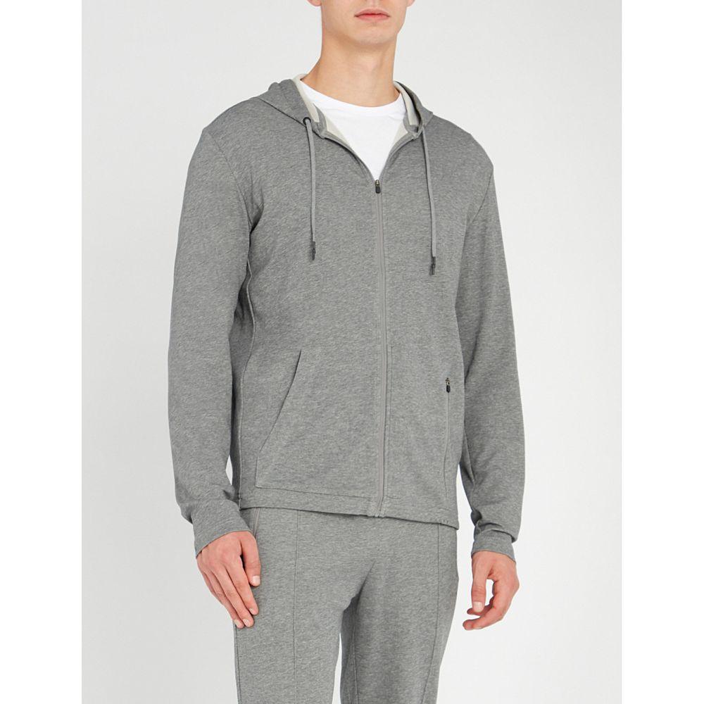 ファルケ falke メンズ トップス パーカー【heritage cotton-blend hoody】Grey