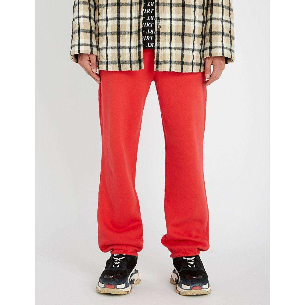 バレンシアガ balenciaga メンズ ボトムス・パンツ【logo-print cotton-blend jogging bottoms】Red