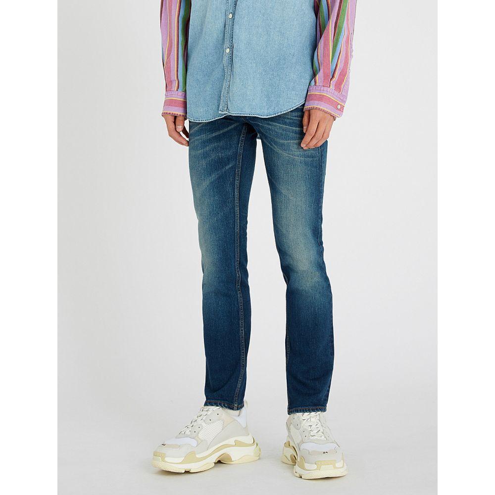 バレンシアガ balenciaga メンズ ボトムス・パンツ ジーンズ・デニム【faded slim-fit tapered jeans】Dark blue