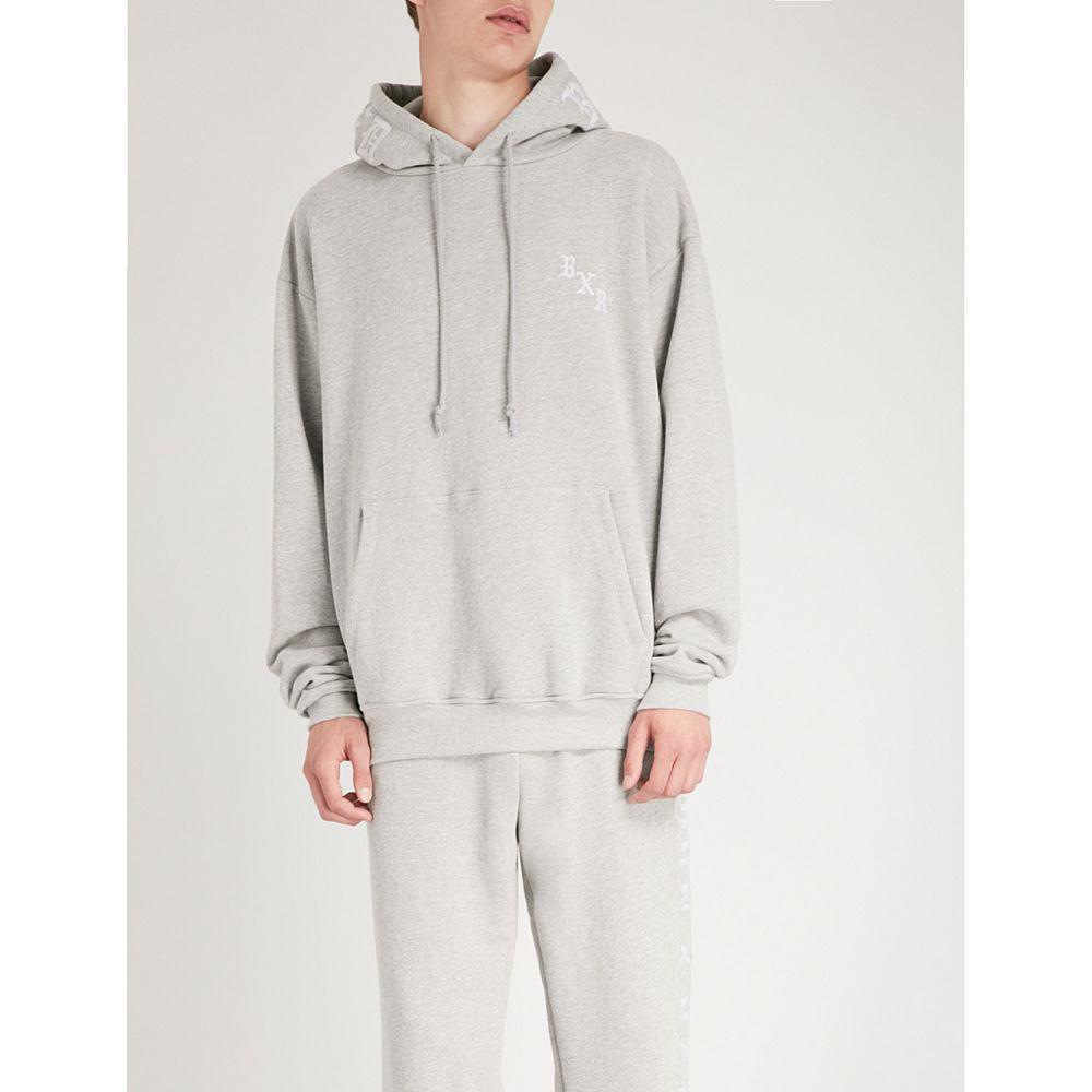 ボーン ライズド born x raised メンズ トップス パーカー【logo-embroidered cotton-jersey hoody】Heather