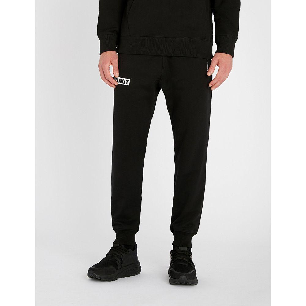 ヘルムート ラング helmut lang メンズ ボトムス・パンツ【logo-print cotton-jersey jogging bottoms】Black