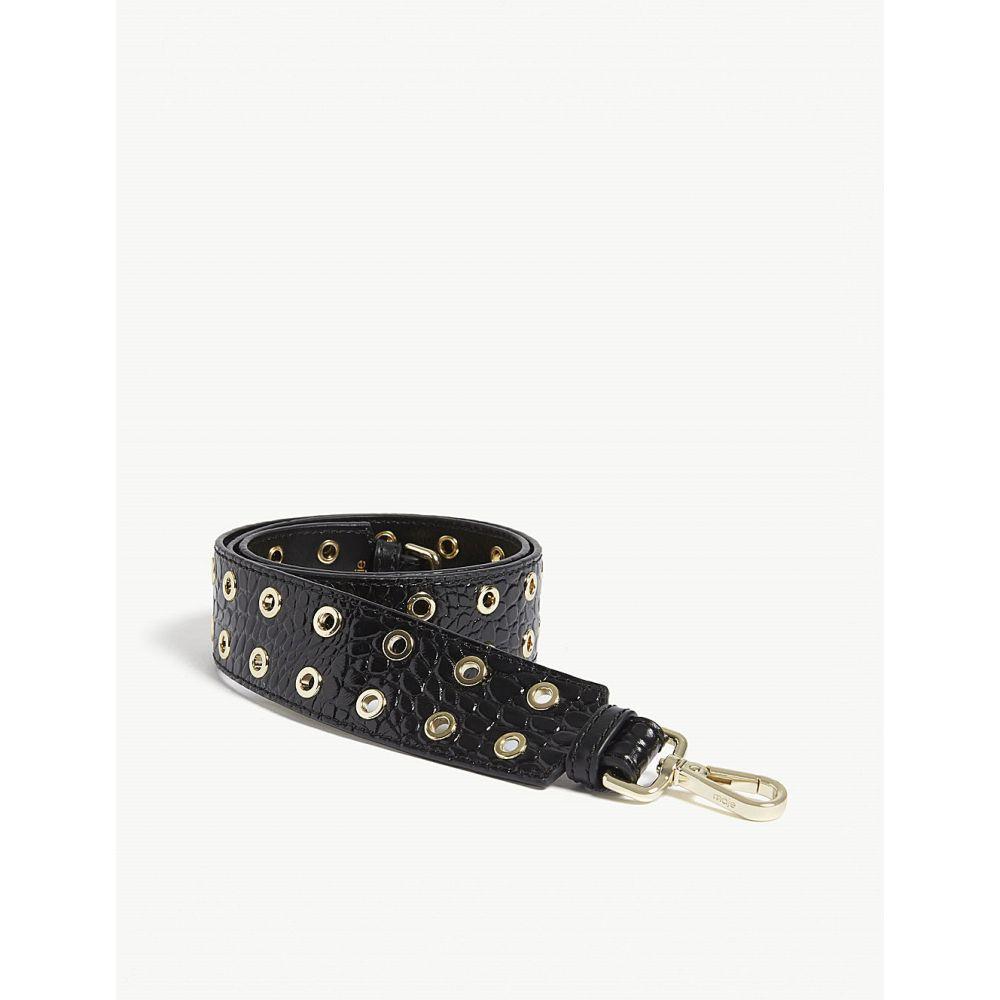 マージュ maje レディース バッグ バッグストラップ【solange grommet leather bag strap】Black
