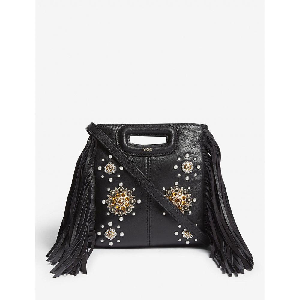 マージュ maje レディース バッグ ショルダーバッグ【the m studded mini leather cross-body bag】Black