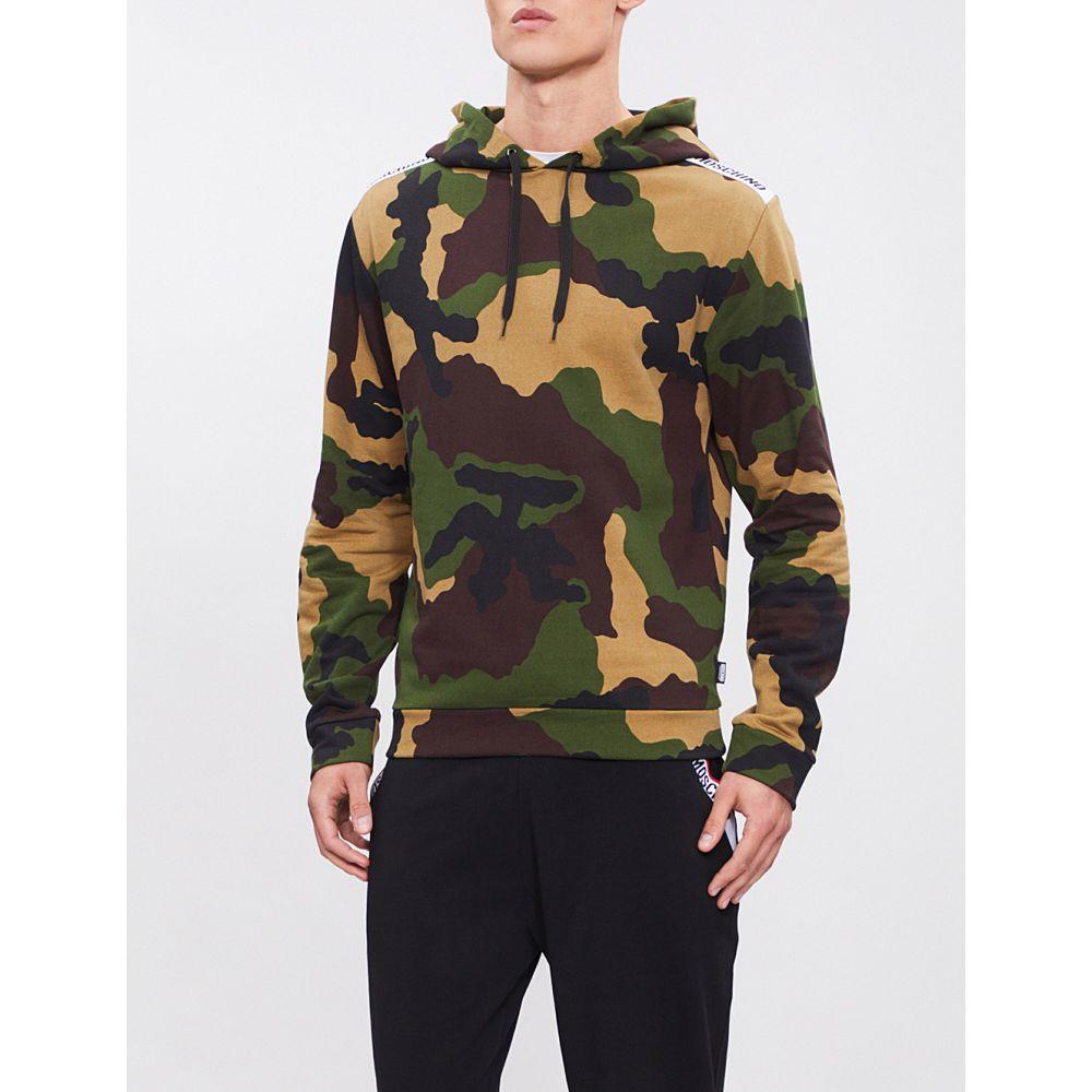 モスキーノ moschino メンズ トップス パーカー【camouflage-print cotton-jersey hoody】Camo