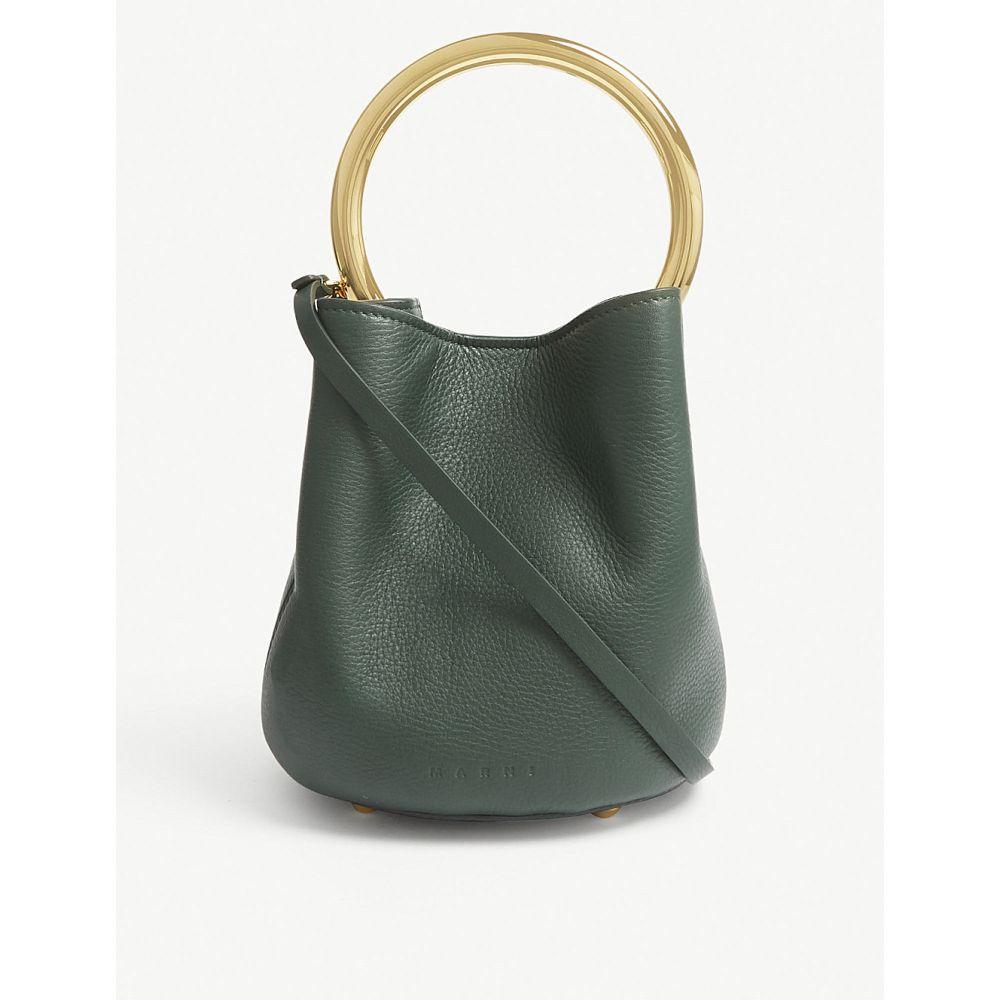 マルニ marni レディース バッグ ハンドバッグ【pannier grained leather shoulder bag】Spherical green