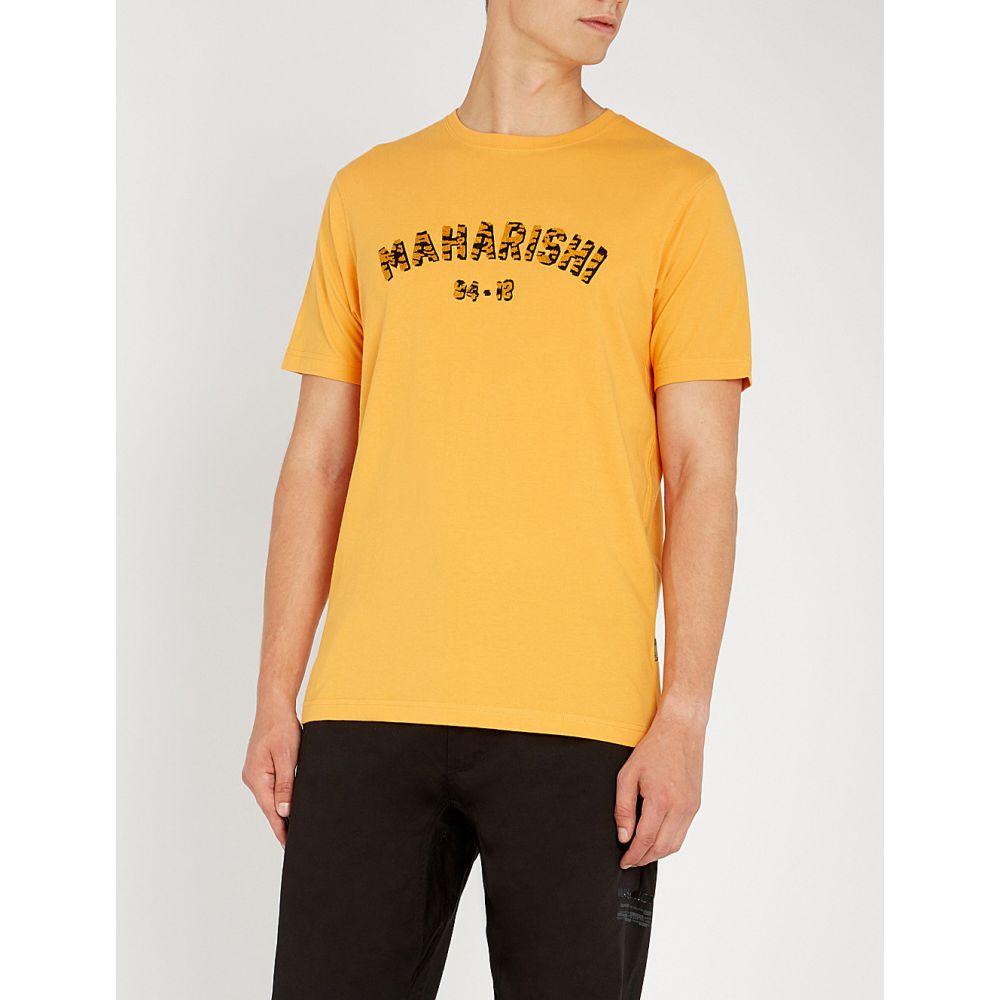 マハリシ maharishi メンズ トップス Tシャツ【logo-embroidered cotton-jersey t-shirt】Tron orange