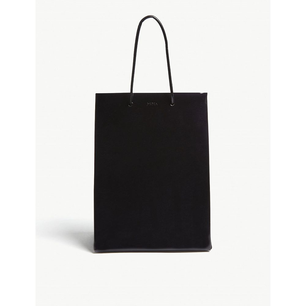 メデア medea レディース バッグ トートバッグ【tall patent leather box tote】Black shiny