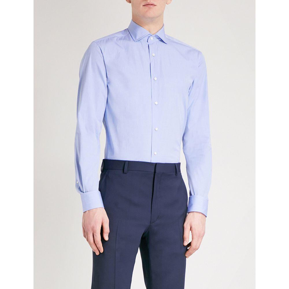 ラルフ ローレン ralph lauren purple label メンズ トップス シャツ【regular-fit cotton shirt】Light blue