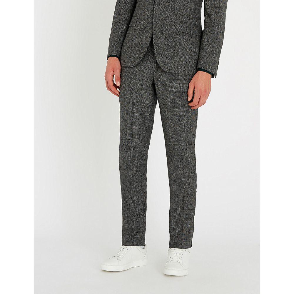 リース reiss メンズ ボトムス・パンツ スラックス【gere slim-fit tapered wool blend trousers】Charcoal