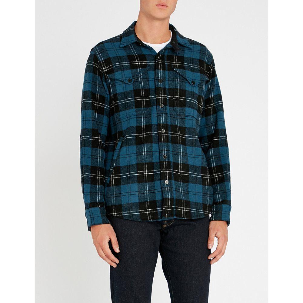 ラルフ ローレン polo ralph lauren メンズ トップス シャツ【checked regular-fit wool-blend shirt】blue/black