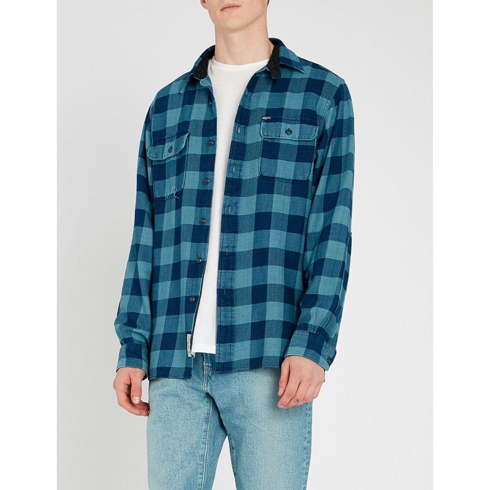 ラルフ ローレン polo ralph lauren メンズ トップス シャツ【checked cotton shirt】indigo/light indigo