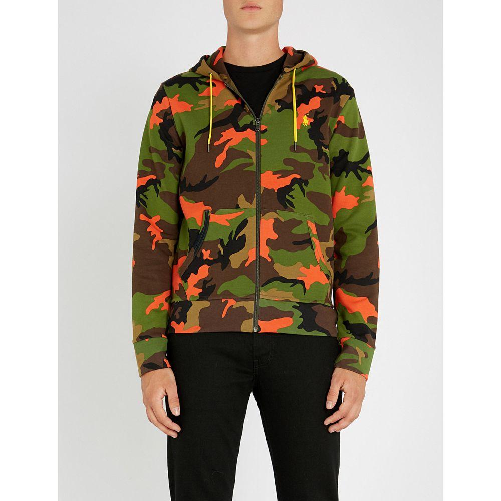 ラルフ ローレン polo ralph lauren メンズ トップス パーカー【camouflage-printed cotton-blend hoody】Orange camo multi