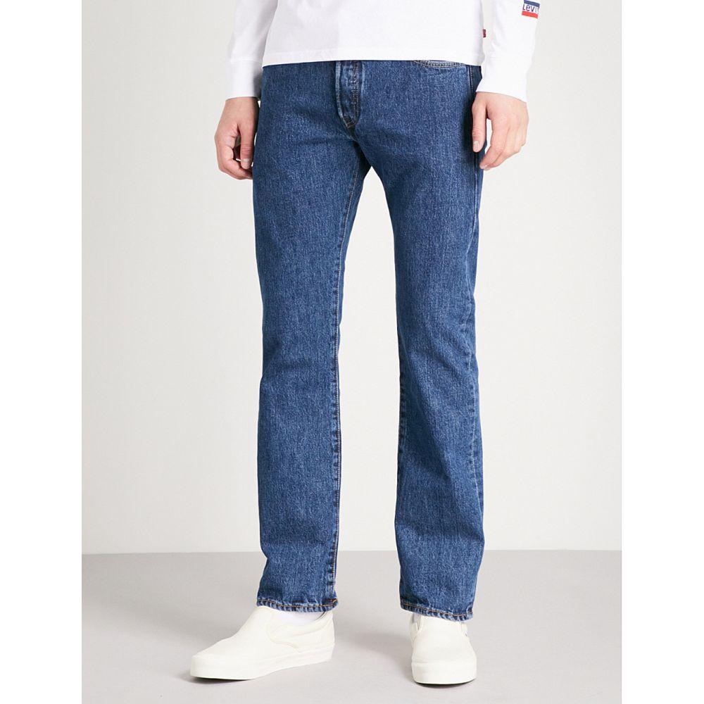 リーバイス levi's メンズ ボトムス・パンツ ジーンズ・デニム【501 original straight mid-rise jeans】Stonewash