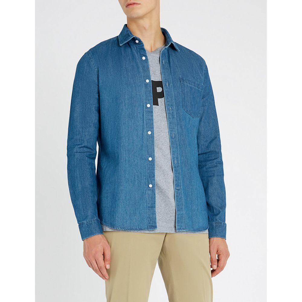 リース reiss メンズ トップス シャツ【gariss slim-fit denim shirt】Blue
