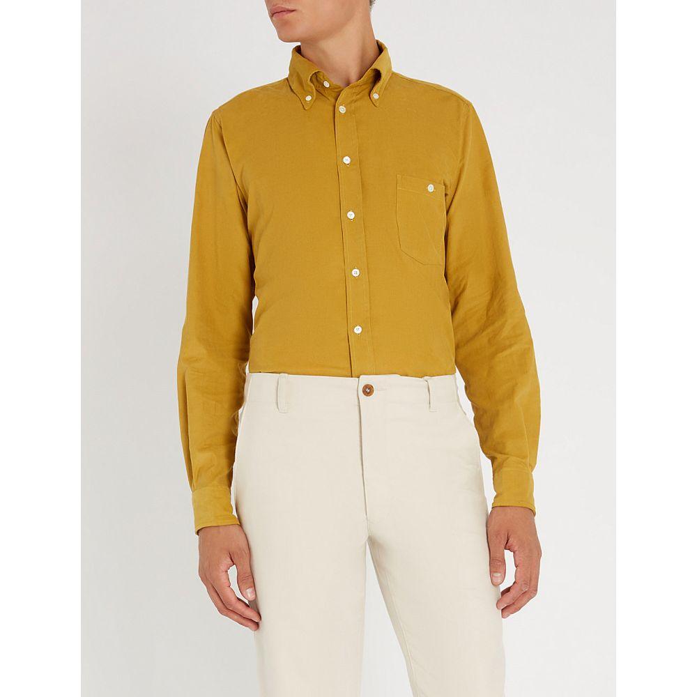 リチャード ジェームス richard james メンズ トップス シャツ【contemporary-fit fine needle cotton-corduroy shirt】Old gold