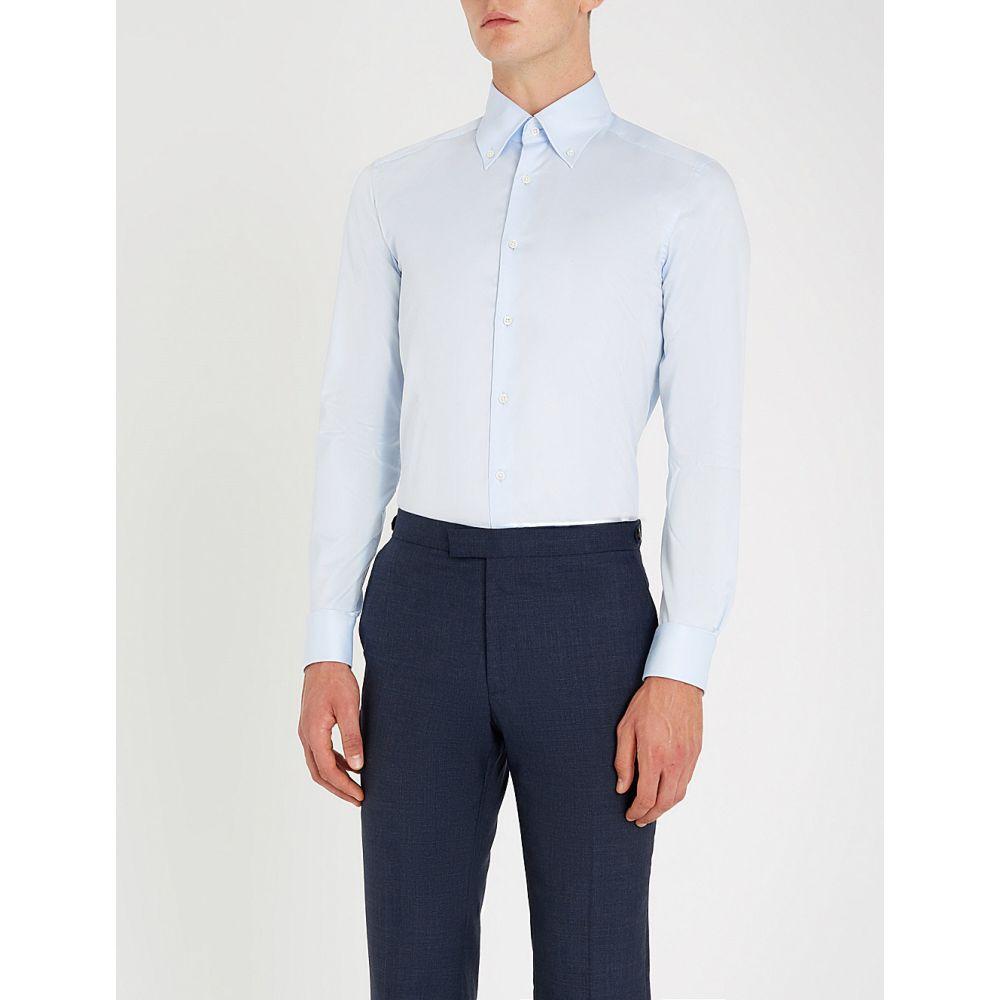 リース reiss メンズ トップス シャツ【redsnap slim-fit button down cotton shirt】Soft blue