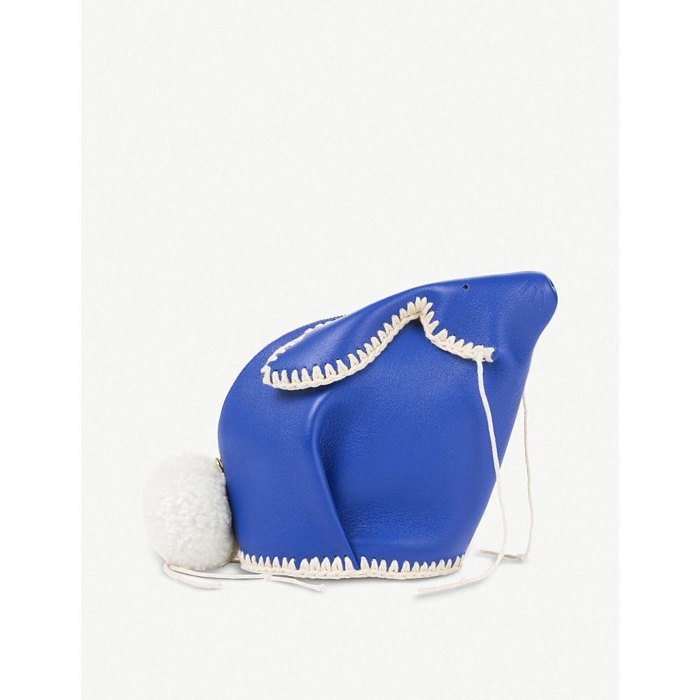ロエベ loewe レディース バッグ【bunny macrame mini leather bag】Electric blue/white